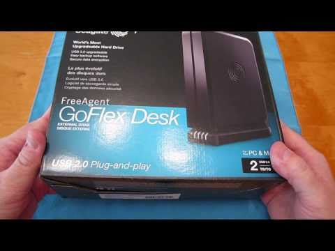 Seagate FreeAgent GoFlex Desk 2TB External Hard Drive Unboxing