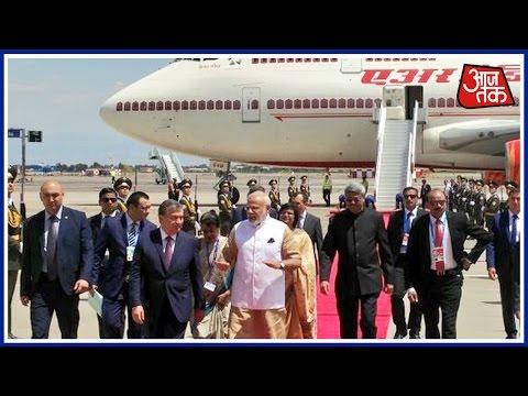 Modi Arrives In Tashkent To Attend SCO Summit