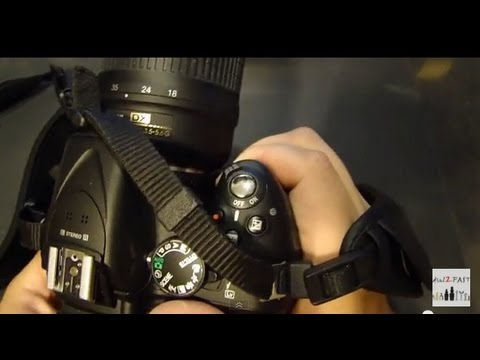 Nikon D5200 DSLR Camera - Leather Hand Strap Install
