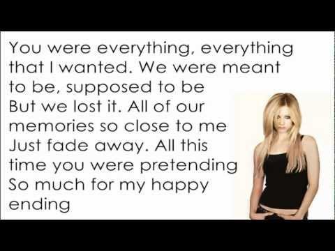 Avril Lavigne - My Happy Ending [lyrics letra] video