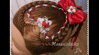 Encintado Corazon Con Perlas en forma de X - Heart Hair Weave with Pearls