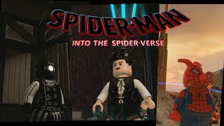 LEGO Spider Man Into the Spider Verse / Spider Man Noir, Peni Parker and Spider Ham Backstory Scene