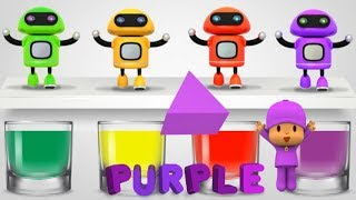 Moo Moo Cow song - Learning Color Funy Emoticon Face Water colors Toys Robot - Best Learning Videos
