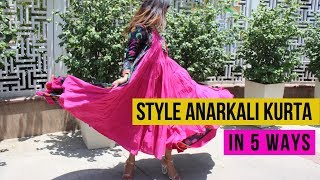 How to style anarkali kurta in 5 different ways   Kurta Styling Tips Every Girl Should Know