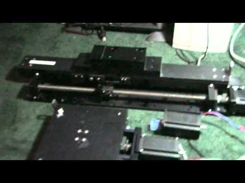 Testing Gecko 540 + Keling Steppers + Mach 3 + Surplus Ball Screws