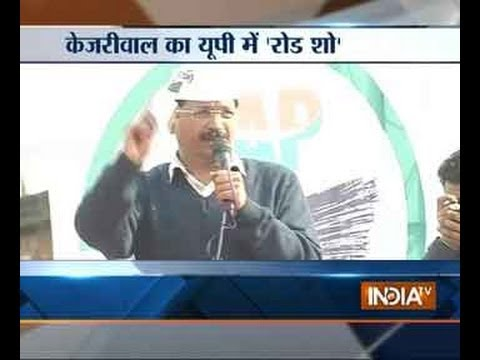 Watch Kejriwal attacking Modi Rahul at Kanpur rally Part 1
