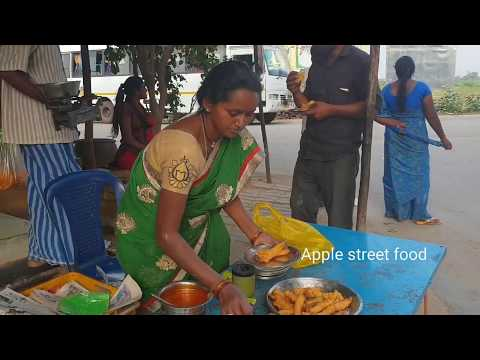 #Tasty onion bhaji at appalayagunta (Near prasana temple venkateswara swamy)  || applestreetfood