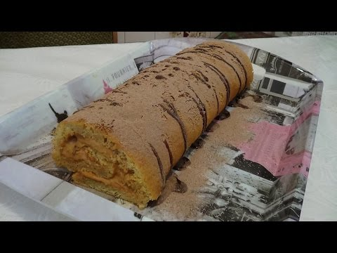 Бисквитный Рулет с Кремом - Обалденно Вкусно!