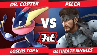 Smash Ultimate Tournament - Dr. Copter (Greninja) Vs. Pelca (Snake) KiT SSBU Singles Top 8 Losers