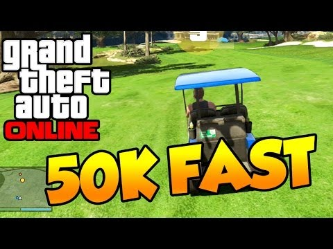 GTA 5 ONLINE - 50k Easy Money Faster Than Survival! (Golf Cart Race)