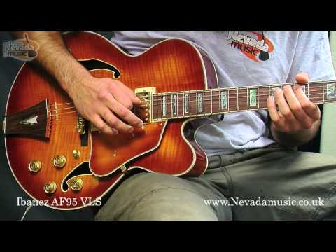 Ibanez Artcore AF95 Semi Jazz Guitar Violin Sunburst Demo - Nevada Music UK Music Videos