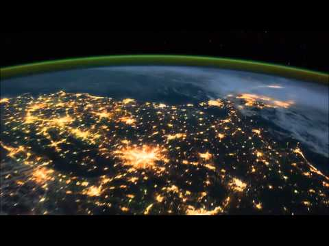 Northern Lights(Aurora Borealis) and Earth view from Space HD
