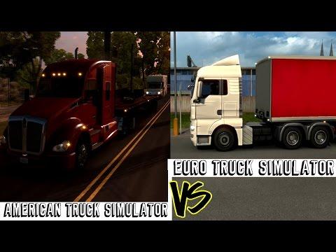 American Truck Simulator VS Euro Truck Simulator 2 HD