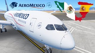 Infinite Flight GLOBAL: Barcelona (BCN) To Mexico City (MEX) | TIMELAPSE | AeroMexico | Boeing 787