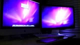 Apple iMac 27 2011 Unboxing - Dual 27 Monitors + Thunderbolt