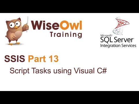 SQL Server Integration Services (SSIS) Part 13 - Script Tasks using C#
