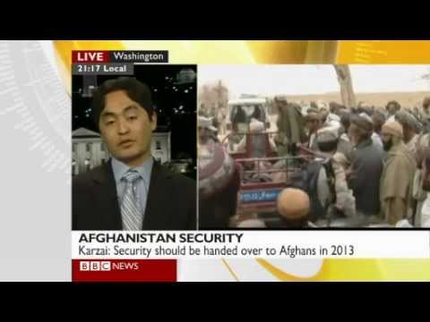 Ahmad Shuja discusses Taliban's suspension of talks & Karzai's statement on NATO troops | BBC