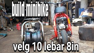 motor custom minibike pake velg 10in part 1