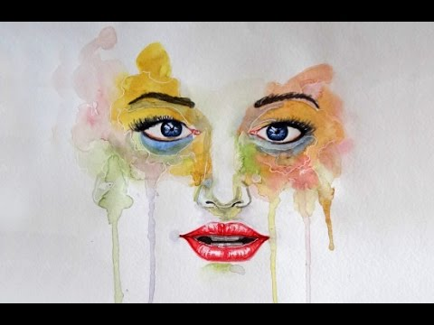Watercolor Faces Painting Watercolor Painting Face of