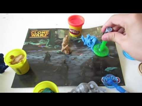Play-Doh Star Wars Clone Wars: War Between Anakin & Droids Playing