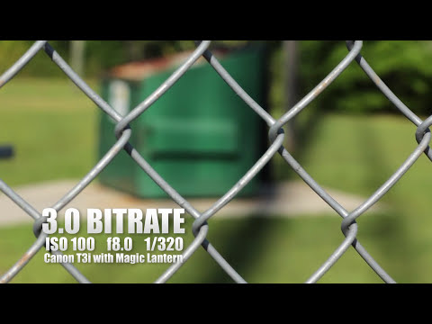 LOW Bitrate Test using Magic Lantern on a Canon T3i