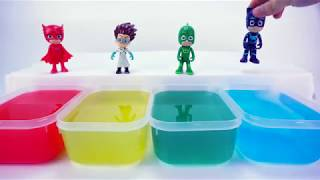 LearnColors with Coca Cola Bottles  colorful Pools   PJ Masks Toys transform into Mermaid PJMasks