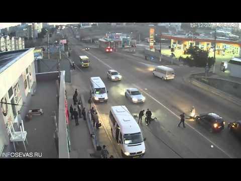 Севастополь, ДТП, студгородок, пешеход выбежал под машину, 19-12-2013 06:55