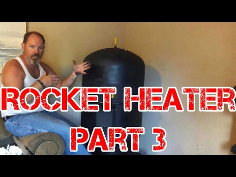 Rocket Heater Wood Stove Build Part 3 (mocking up the J-Tube)