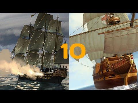 10 лучших игр с парусниками