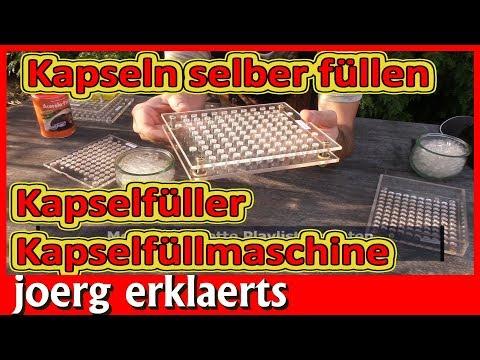Kapseln selber herstellen Kapselmaschine von Robert Franz Kapselfüller Tutorial Nr 215