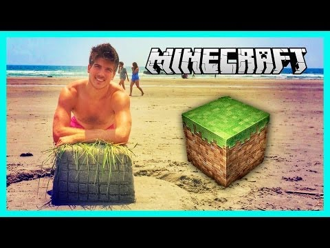MINECRAFT ON THE BEACH!