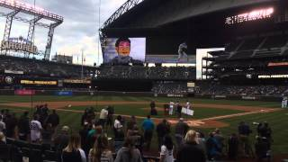 Derek Jeter tribute safeco field