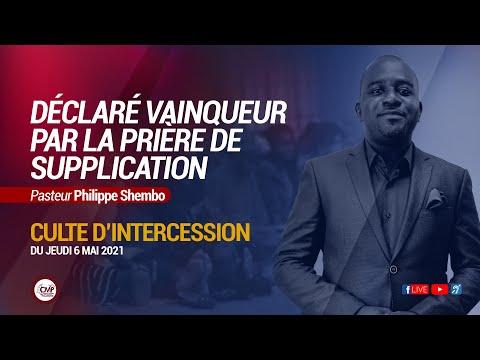 Déclaré vainqueur par la prière de supplication | Philippe Shembo | Live Culte Jeudi Etoko 06.05.21
