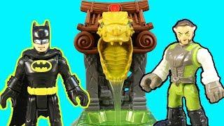 New Imaginext Batman & Ooze Pit + Bruce Wayne In Ninja Disguise & Ra's al Ghul Gets Slimed
