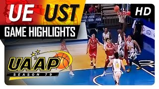 UE vs UST | Game Highlights | UAAP 79 | October 8, 2016