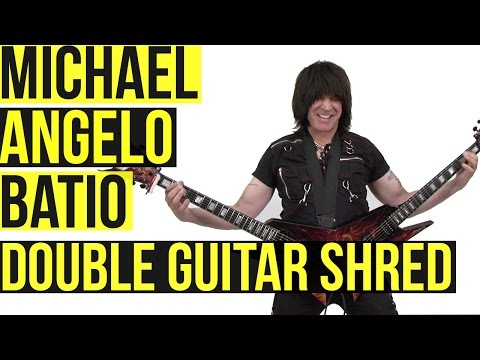 Michael Angelo Batio: Double Guitar Shred Medley Music Videos