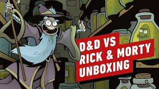 Unboxing the Hilarious D&D vs Rick and Morty Boxed Set