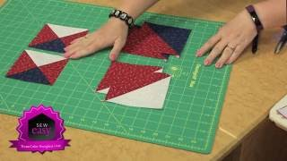 Sew Easy: Easy 3-Color Hourglass Units for your Quilts!