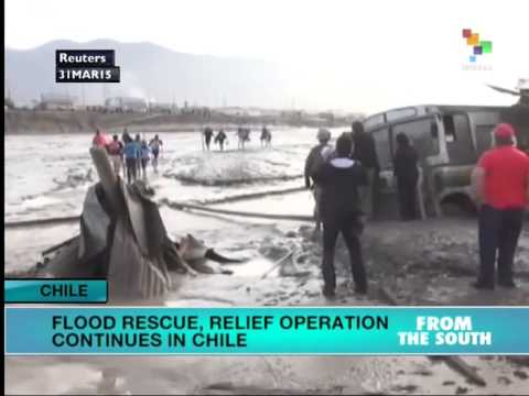 Flood relief operation continues in Chile