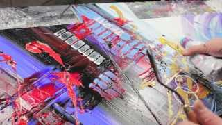 Abstract acrylic painting Demo HD Video - illuminating - by John Beckley
