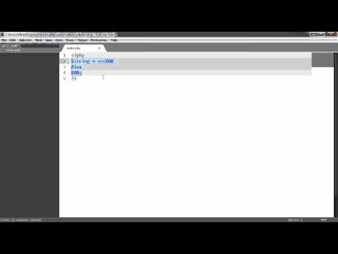 Learn PHP: Heredoc syntax
