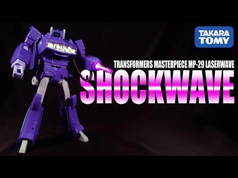 Takara Tomy Masterpiece Shockwave MP-29 Laserwave Destron Military Operations Commander review