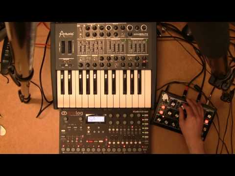 Moog Minitaur + Arturia Minibrute CV sequenced by Elektron Analog Four