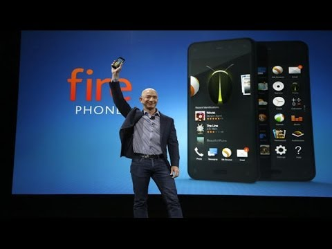 Amazon's CEO Jeff Bezos unveils  its 3D Fire Phone