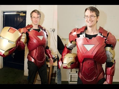 XRobots - Iron Man Cosplay at UK Southampton's Makerspace/Hackerpsace Grand Opening 1st Feb 2014
