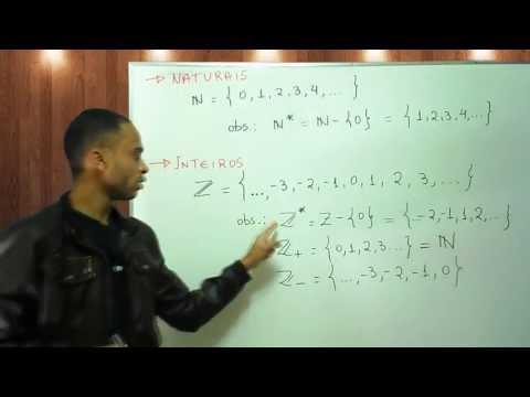 Conjuntos numéricos: Naturais, inteiros, racionais, irracionais e reais