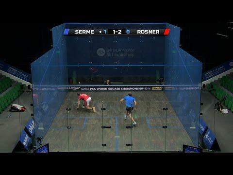 Squash: MegaRallies EP94 : Rosner v Serme : World Championship 2014