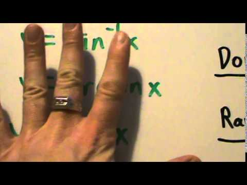 Trigonometry - Inverse Trig - The Inverse Sine Function