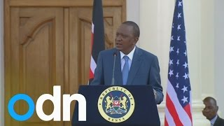 Gay rights: US and Kenyan presidents disagree