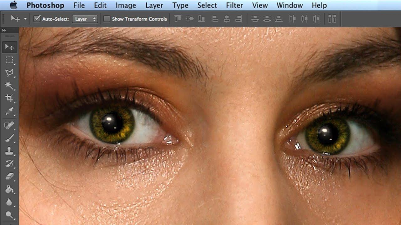 Блики на глазах на фото как делать
